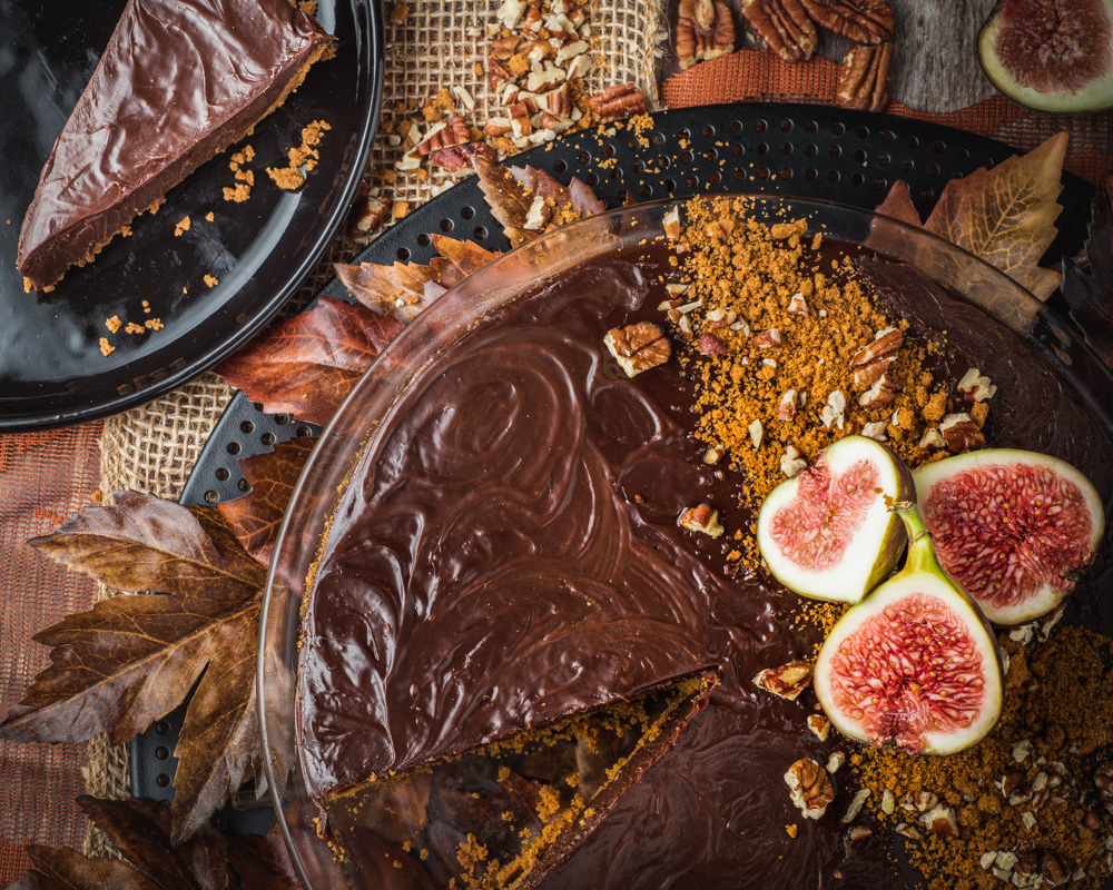 Chocolate Tart with Biscoff Cookie Crust