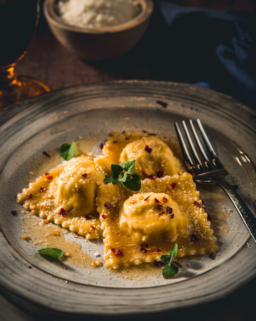 Artichoke, Lemon and Burrata Ravioli