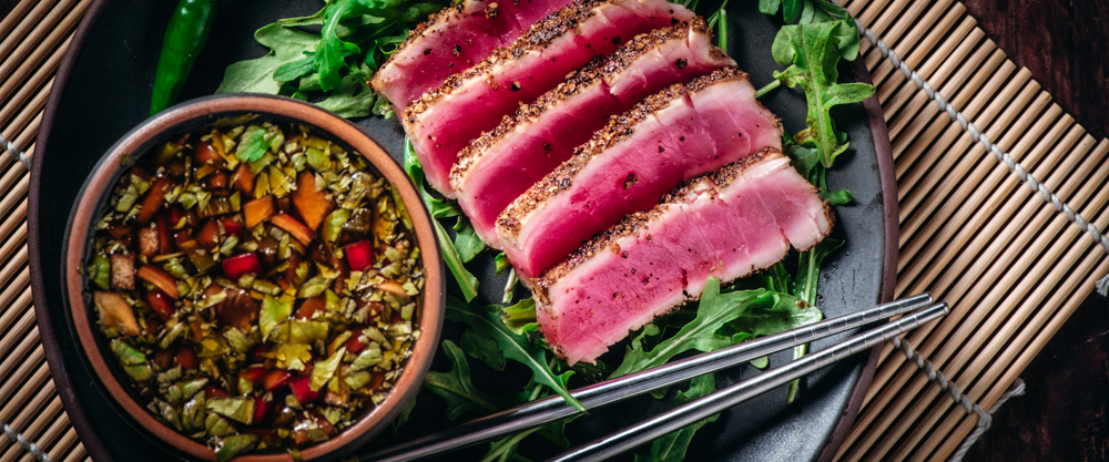 Seared Ahi with Spicy Dipping Sauce