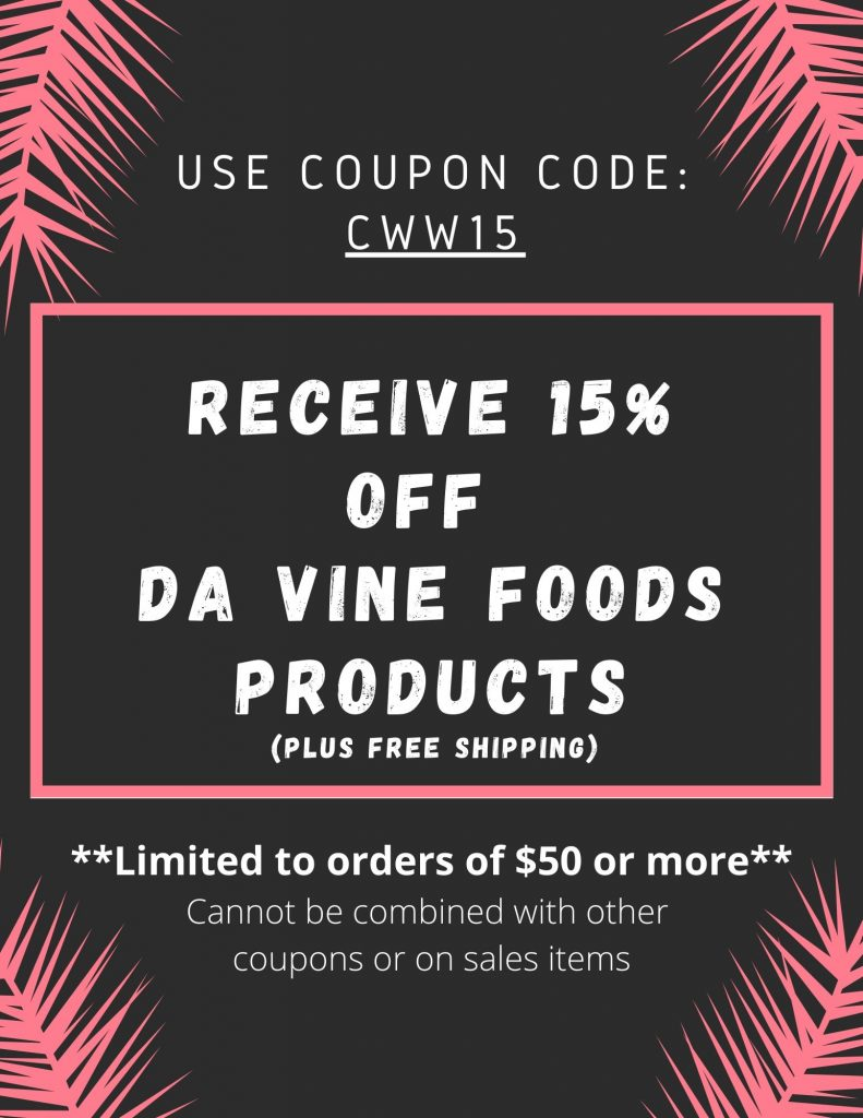 Use the discount code CWW15 to receive 15% off orders of $50 or more plus free shipping (cannot be combined with other coupons or on sales items).