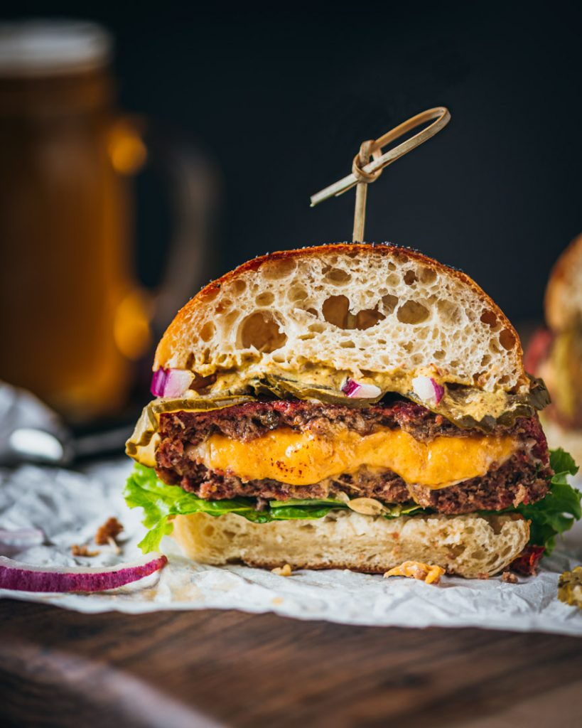Juicy Lucy Cowgirl Cheeseburger