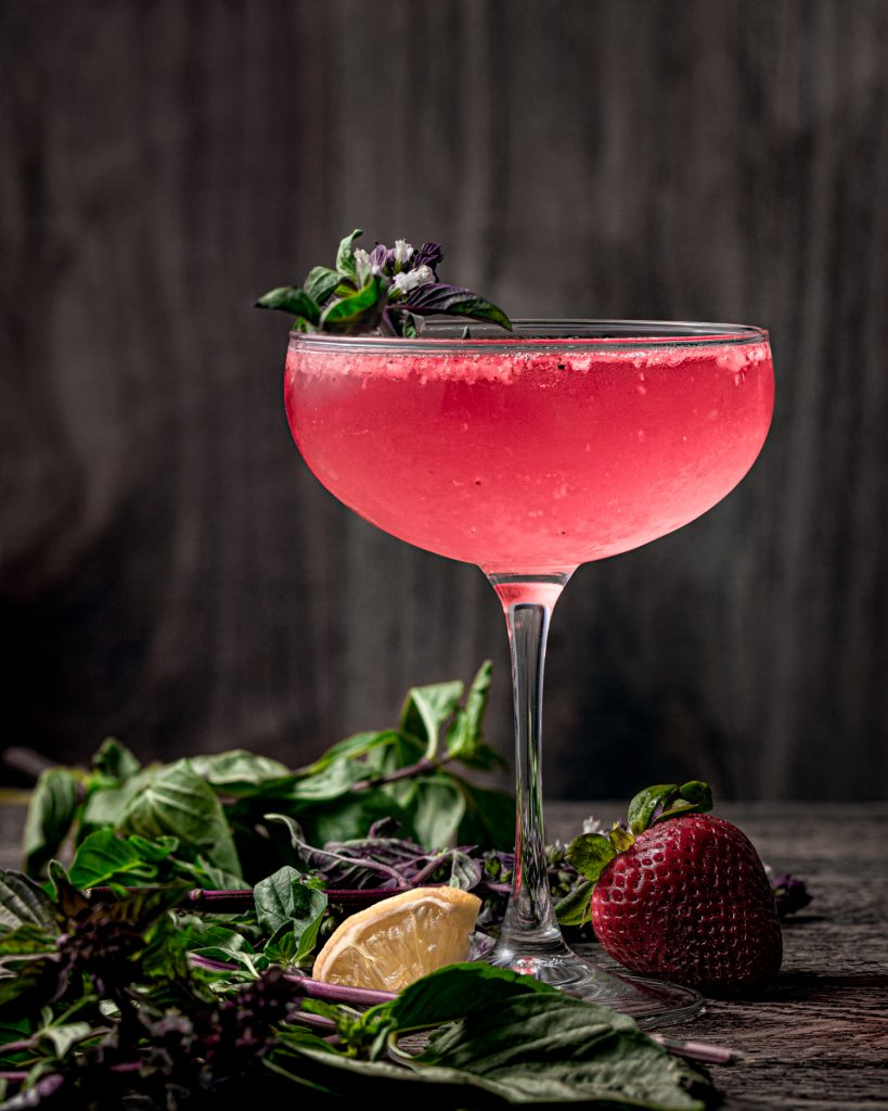 Strawberry Basil Pink Martini