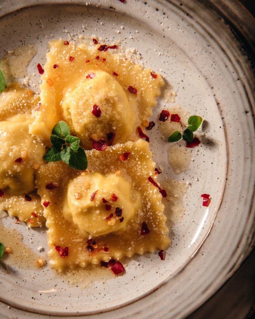 Artichoke Lemon and Burrata Ravioli