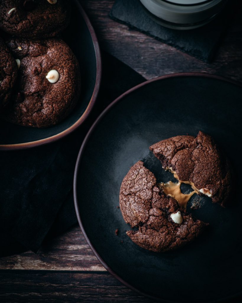 Triple Chocolate Surprise Cookies