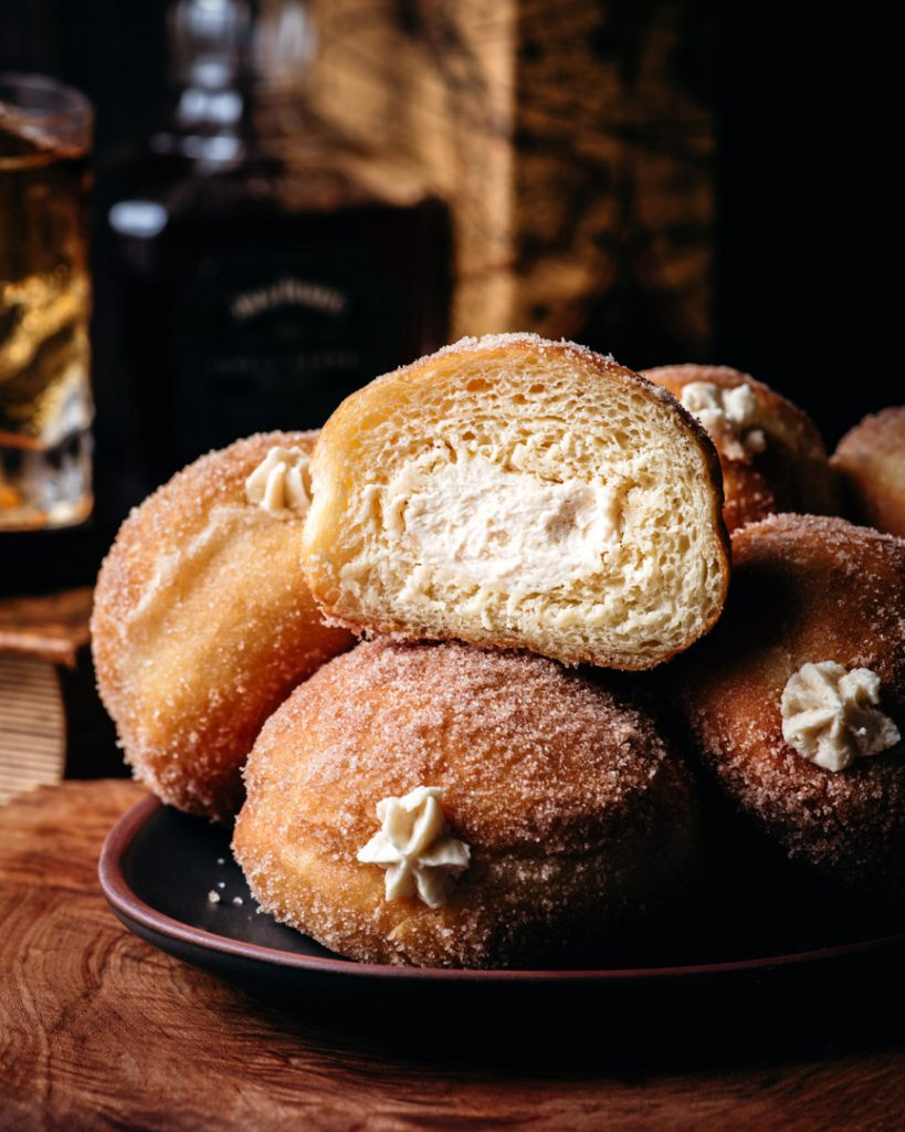 Whiskey Maple Brioche Donuts