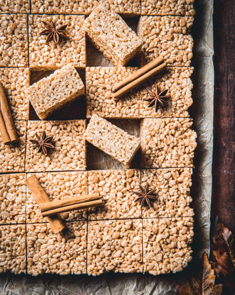 Chai Spiced Rice Krispies Treats