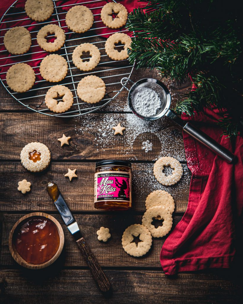 Linzer Cookies using Lilikoi Jelly