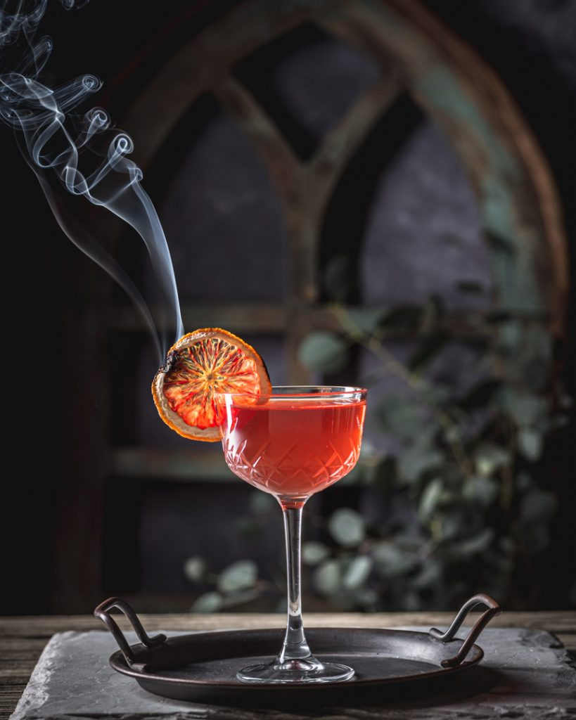 Southern Sunset Bourbon and Rye Whiskey Cocktail