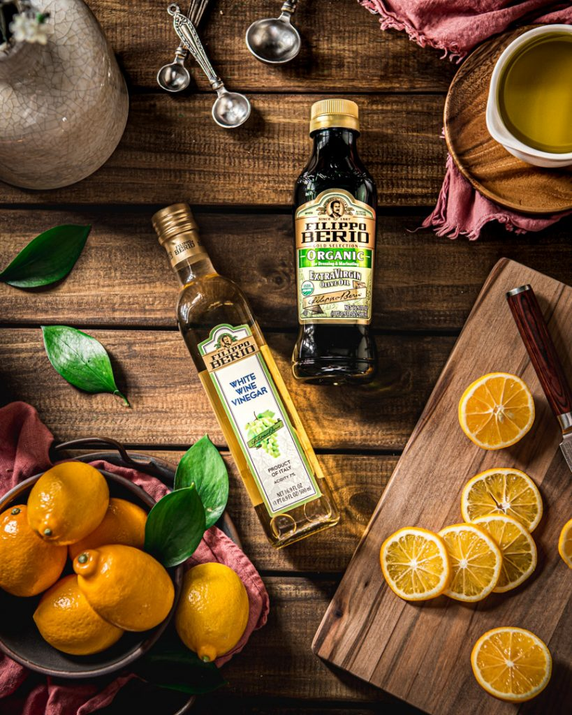 Meyer Lemons and Filippo Berio products