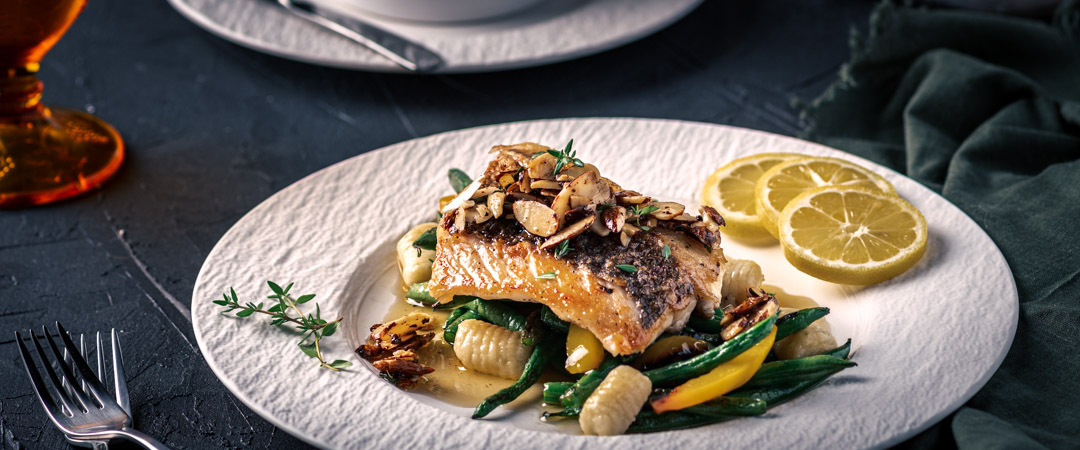 Delicious Red Snapper Amandine