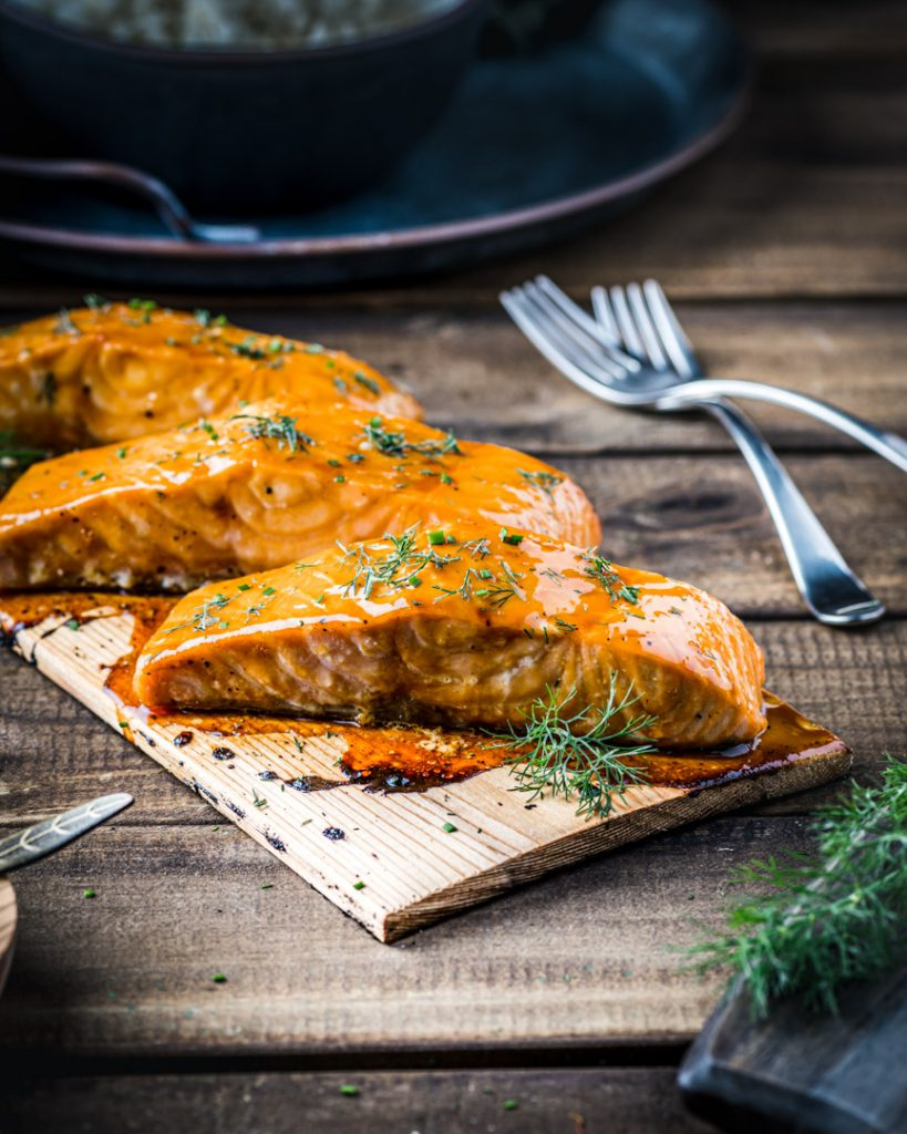 July 4th Grilling Recipe Roundup - Grilled Salmon with Passion Fruit Glaze