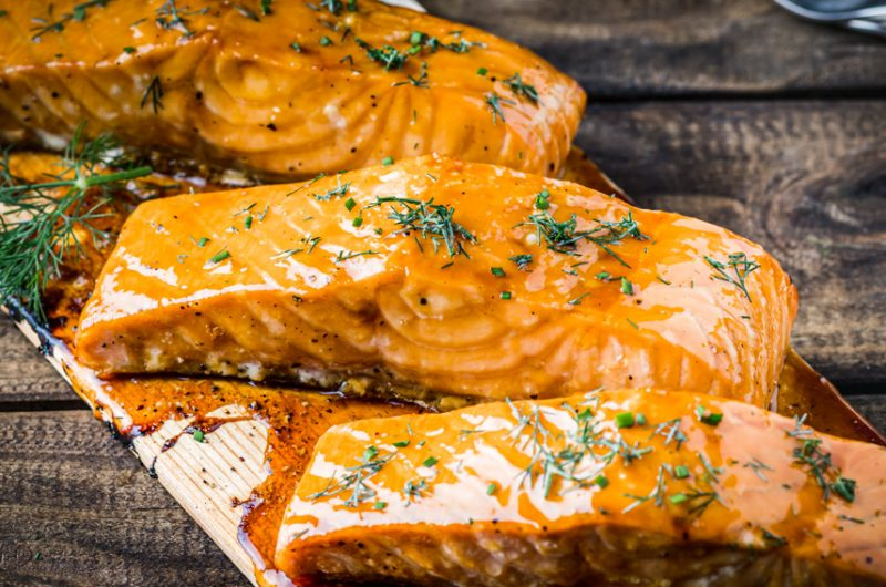 Grilled Salmon with Passion Fruit Glaze