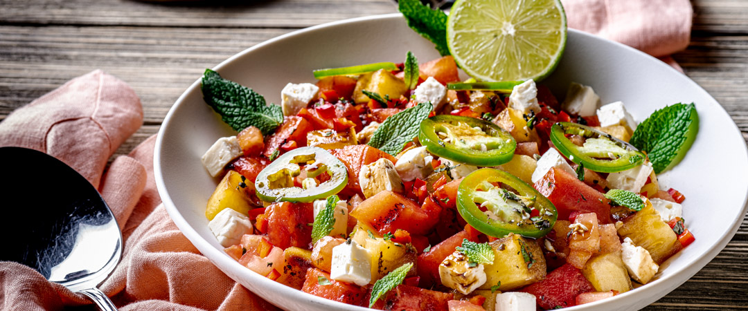 Spicy Grilled Watermelon Salad