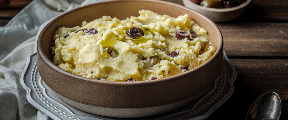 Olive Oil Mashed Potatoes with Olives