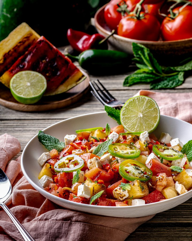 July 4th Grilling Recipe Roundup - Spicy Watermelon Salad