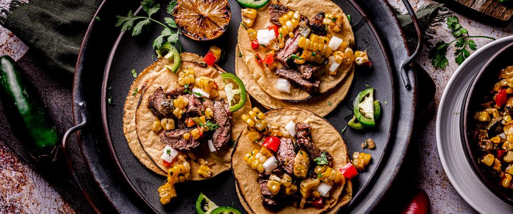 Marinated Skirt Steak Street Tacos